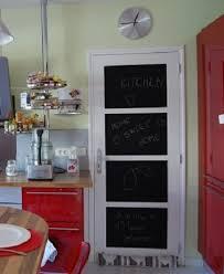 porte de la cuisine une porte peinture tableau noir dans la cuisine