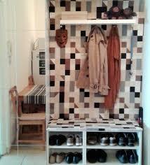 Hallway storage from IKEA Metod kitchen cabinets