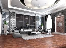 Generous and elegant living room interior design