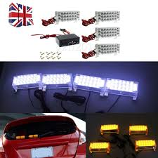 4X22LED FOR CAR Truck Amber Strobe Emergency Flashing Warning Lights ... 4led Light Bar Beacon Vehicle Grill Strobe Emergency Warning Flash Umbrella Inspirational High Power 1224v 20led Super Bright Caution Hazard Safety Bars 55 Inch 1 4m 104 Led Castaleca Car Truck Trailer Side Marker Strobe Lights Amber 12 Led Kacowpper 6 Nwhosale New 2 X 48 96led Flashing Lights Buyers 8892000 Set Of 5 9 Marker With