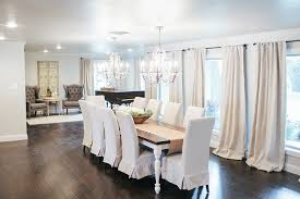 Astounding Inspiration Dining Room Chairs With Skirts White Farmhouse Table French Upholstered