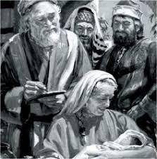Zacharias And Elizabeth Writing His Name Is John