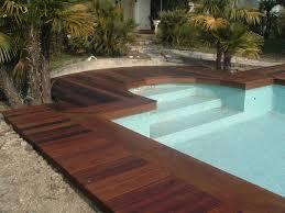 margelle piscine en bois réalisations de terrasses en bois