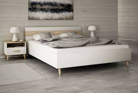 möbel set alta 1 für schlafzimmer doppelbett 160x200 cm mit 2 nachttischen skandinavisches design
