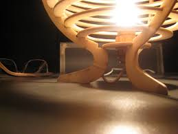 Laser Cut Lamp Dxf by Laser Cuted Wood Spherical Lamp Called Kitty Lamp By Zyndatho