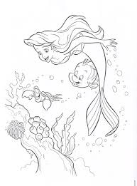 Little Mermaid Coloring Pages Printable