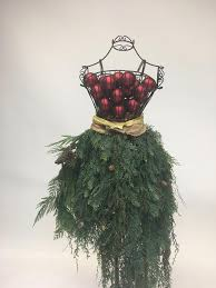 Custom Made Dress Form Christmas Tree With Cedar Skirt