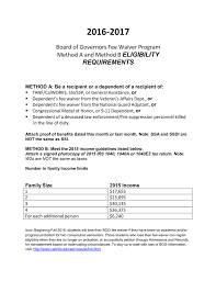 Cal Grant Income Ceiling Agi by 2016 2017 Board Of Governors Fee Waiver Program Eligibility