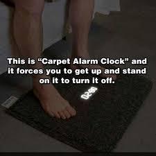 Juggaar Hack your life Carpet alarm clock