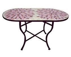 table ronde mosaique fer forge table de salon de jardin en fer forge spitpod
