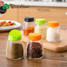 ButiHome 2 Pieces Lot Pepper Mason Jar Kitchen Spice Storage Double Lid Barbecue Sauce Seasoning