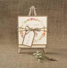 Boho Wedding Save The Date Card Floral Invite Rustic Handmade Invitation Sample