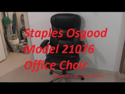 assembly of a staples osgood model 21076 office chair