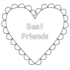 Coloring Pages Hearts Heart Best Friends Page Valentines Day Sheets