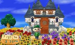 A Picture Of The Castle Exterior Which Can Be Purchased At Nooks Homes In Animal Crossing New Leaf