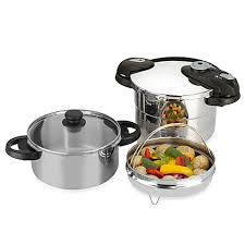 Bed Bath Beyond Pressure Cooker by Fagor Futuro 5 Piece Stainless Steel Pressure Cooker Set Bed