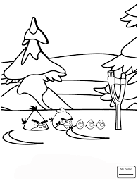 Coloring Pages Angry Birds Winter Battles Cartoons