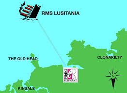 When Did Lusitania Sink by Where Did Lusitania Sink Map Sinks Ideas