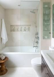 showerhead and glass door spa inspired bathroom small
