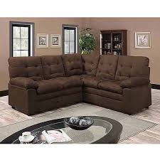 buchannan microfiber corner sectional sofa dark chocolate
