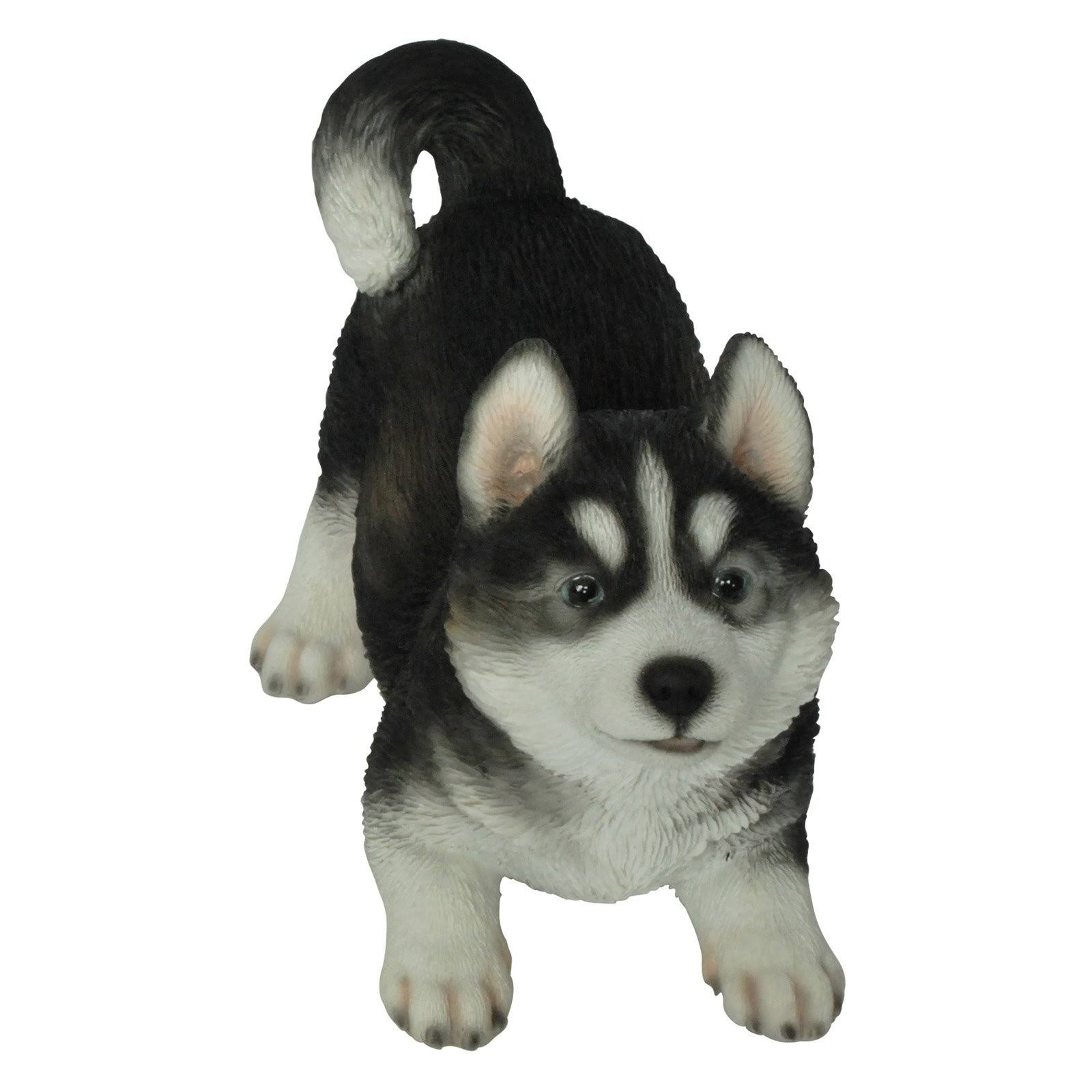 Natures Gallery Playful Husky Puppy Statue
