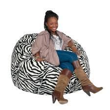 cozy sack 3 bean bag chair medium pumpkin