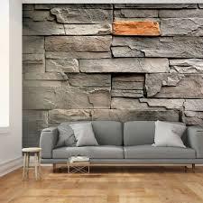 fototapete grau optik stein steinwand tapete