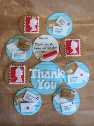 Post Office Themed Cupcake Toppers