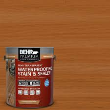 behr premium 1 gal semi transparent weatherproofing wood stain