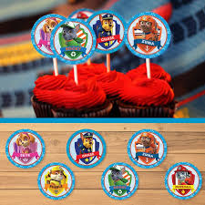 The Size Of Each Paw Patrol Cupcake Topper Is 2 Inches In Diameter File A Standard 85 X 11 With 12