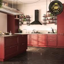 freda industrielook moderne loft küche mit insel massivholz bordeaux weinrot
