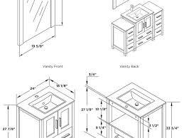 16 Inch Deep Bathroom Vanity by Bathroom Standard Bathroom Vanity Depth 41 Ace 60 Inch
