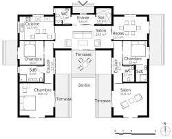 plan de maison de plain pied 3 chambres superb plan de maison 3 chambres plain pied 3 plan maison