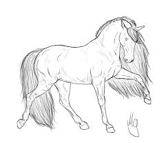 1024x868 Drawing Of Realistic Horse Coloring Page