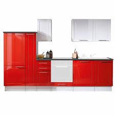 küchenblock valenzia weiß rot hochglanz 300 cm
