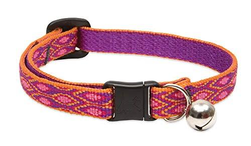 "Lupine Pet Originals Alpen Glow Cat Safety Collar with Bell - 1/2"" x 8-12"""