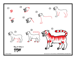 How To Draw A Tiger Step By Easy Art