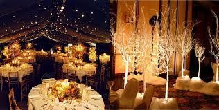 Winter Wonderland Table Centerpieces For Wedding