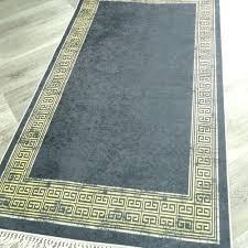 teppiche teppichböden teppich waschbar versace schwarz