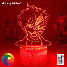neue anime maske gesicht led nacht licht len für