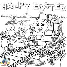 Train Colouring Pages Online Free Printable Easter Worksheets Thomas The Coloring