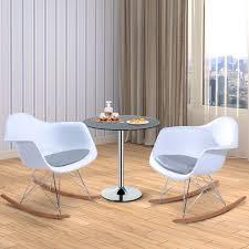100 Eames Style Rocking Chair HOMCOM Set Of 2 PU Leisure S Seat