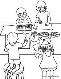 Drawing Lesson Coloring Page