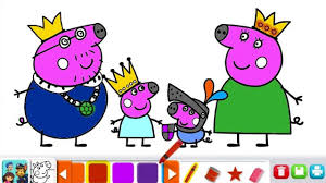 Peppa Pigs Family Nick Jr Coloring Book Games