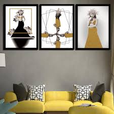 100 Pop Art Bedroom US 188 42 OFFBrand New Prints Creative Fashion Poster Home Nordic Model Wall Decoration Modular Pictures Canvas Paintingin