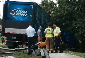 100 Bud Light Truck Semitruck Crashes In Cape Coral
