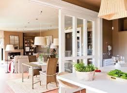 separate offene küche vom wohnzimmer trennwände im