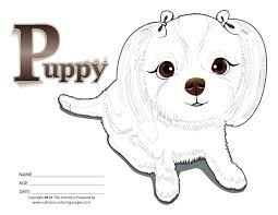 Puppy Coloring Pages For Girls Black And White