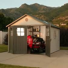 lifetime 11 x 11 resin shed reviews lifetime outdoor storage shed
