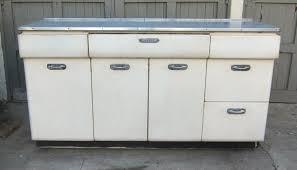 1940s Metal Kitchen Cabinet W Chrome Handles